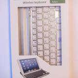Tastatur? Bluetooth Mobile pentru Ipad Mini - Taste albe