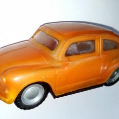 Jucarie de colectie - Masinuta veche, Fiat 600 - tabla si plastic E Flim Lemez Foreign - Ungaria