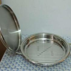 Gratar - Zepter grill inox antibacterian cu capac termocontrolul automat al temperaturii