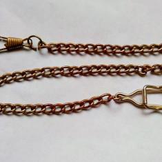 Lant pentru ceas de buzunar, placat cu aur