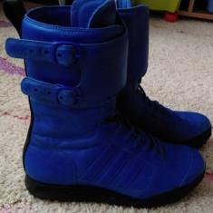 Ghete adidas Originals, mas.38 2/3, piele naturala - Ghete dama Adidas, Culoare: Albastru