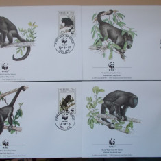 Belize 1997 FDC fauna protejata maimute wwf