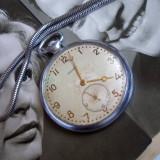 Ceas vechi sovietic de buzunar ISKRA, fabricat 1957, de colectie, functional
