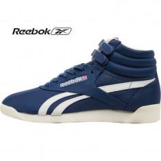 Adidasi originali Reebok Womens Freestyle Hi Vintage Inspired Blue - Adidasi dama Reebok, Marime: 38, Culoare: Din imagine