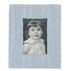 Album foto - Rama foto textil bleu