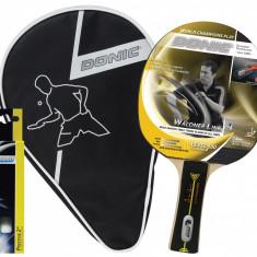 Set tenis de masa 1 paleta 3 mingi husa Waldner Level 500