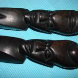 Doua statuete din lemn de abanos, arta africana (1) - Arta din Africa