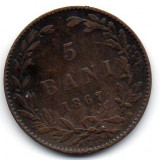 Monede Romania - 5 Bani 1867
