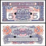 !! MAREA BRITANIE - 5 SHILLINGS 1948 - P M20d - UNC, VOUCHER B.A.F. CANCELLED, Europa