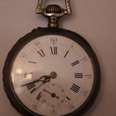 CEAS DE BUZUNAR MECANIC-SWISS MADE -FARA NUME-ARGINT-D=4, 5 - Ceas de buzunar vechi