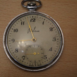 CEAS DE BUZUNAR MECANIC-MOLNIA-USSR MADE, D=5 CM- IN FUNCTIUNE-MODEL VECHI FRUMOS - Ceas de buzunar vechi