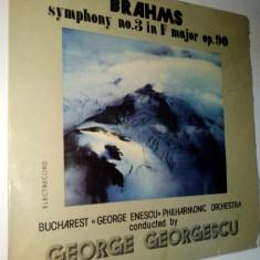 Disc vinil / vinyl - BRAHMS Symphony no. 3 in F major OP. 90 - Electrecord - Muzica Clasica