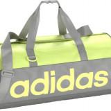 Geanta, Adidas, Linear Performance TB S, Gri-Verde Deschis, 25x50x25 cm