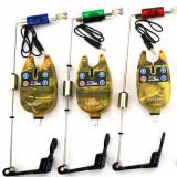 Set 3 Avertizori / Senzori Marca Oxygen Si 3 Swingeri Lumino - Avertizor pescuit