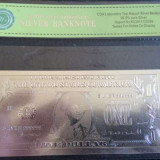 Bacnota 1 DOLAR argint 999 ! Certificat autenticitate !
