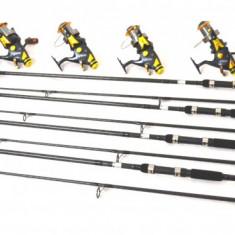 Lanseta - Set 4 lans 3, 6m, 4 lbs, 2 trons. carbon cu 4 mul. SW 80 LONG CAST, 9+1 rulm