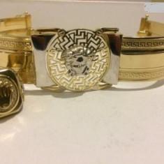 Bratara din aur, 14 carate - Bratara aur 14k superba tip VERSACE masiva