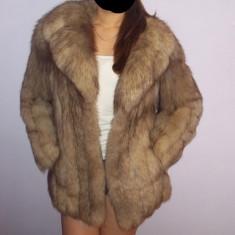 Haine dama - Haina de blana naturala de vulpe argintie