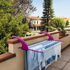 Stropitoare gradina - Suport de balcon pentru intins rufe din inox violet Meliconi - 10 MT