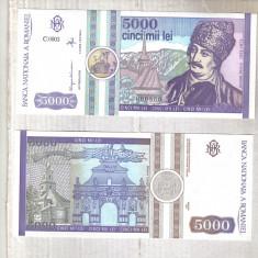 Bancnote Romanesti, An: 1992 - 5000 LEI 1992 UNC