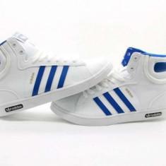 Ghete barbati - Ghete Adidas Monaco Alb-albastru model nou 2016