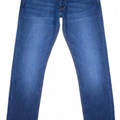 Blugi LEE COOPER (Slim) - (MARIME: 32 x 34) - Talie = 84 CM, Lungime = 111 CM - Blugi barbati Lee Cooper, Culoare: Albastru, Cu aplicatii, Slim Fit, Normal