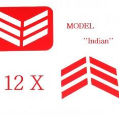 Unghii modele - Set 12 sabloane vinyl ''Indian''