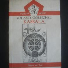 ROLAND GOETSCHEL - KABBALA - Carte Hobby Paranormal