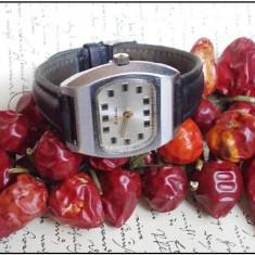 Ceas de mana - Ceas rusesc RAKETA TV Dial, cal 2609HA, argintiu, functional