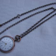 Ceas de buzunar din argint 0, 800 Remontoir Cylindre 10 rubis functional (2)