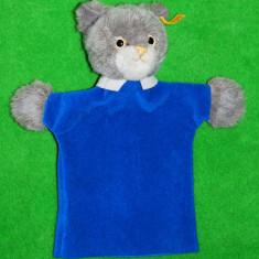 Papusa de colectie - Marioneta pisica Vintage anii 80 Steiff, button tag in ureche cu nr 6465/27