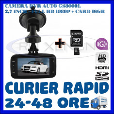 Camera video auto ZDM, 32GB, Wide, Single, Senzor imagine MP CMOS: 12, Full HD - CARD 16GB + CAMERA VIDEO DVR AUTO MARTOR ACCIDENT GS8000L, FULL HD 1080p, SENZ G