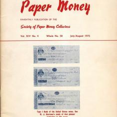 REVISTA SUPLIMENT LA CATALOGUL WORLD PAPER MONEY - Nr.58 IULIE/AUGUST 1975