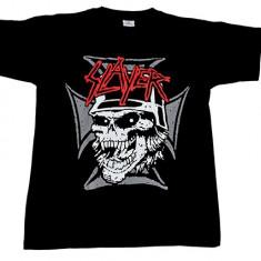 Tricou Slayer - craniu si cruce de fier - Tricou barbati, Marime: L, XL, XXL, Culoare: Din imagine
