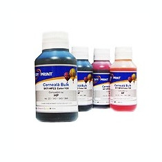 Pachet Cerneala HP neagra si color Refill Sky 4x100 ml - Cerneala imprimanta