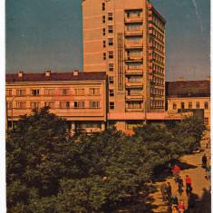 Carte Postala, Circulata, Printata - Satu Mare hotel aurora vedere circulata 1987