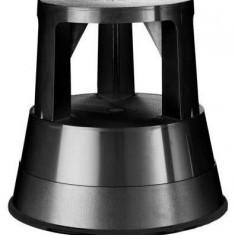 Mobila - Alco Taburet plastic cu rotile, pentru rafturi inalte, Alco - negru