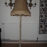 Lampadar de podea din onix si alama 165 cm