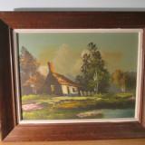 Tablou ulei panza - Tablou autor neidentificat, Peisaje, Impresionism