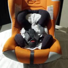 Chicco scaun auto copii de la 0 la 36 luni cu adaptor si Husa portocalie - Scaun auto bebelusi grupa 0+ (0-13 kg) Chicco, Altele, Portocaliu