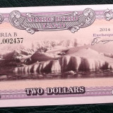 Marie Byrd Land (Antarctica) 2 DOLLARS $ 2014 UNC **