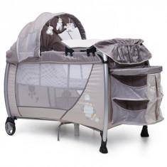Patut pliant bebelusi - Pat pliabil Relax 120 x 60 cm Beige Cangaroo