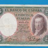 Spania 25 pesetas 1931 - bancnota europa