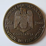 Medalii Romania, An: 2008 - MEDALIE MINISTERUL APARARII CENTRUL MILITAR ZONAL CONSTANTA 1968-2008