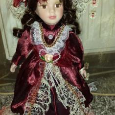 Jucarie de colectie - Papusa portelan-Lady Margarite-superba!