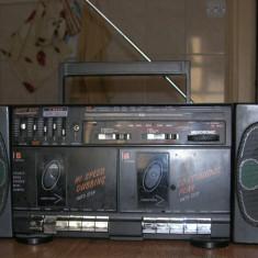 Radiocasetofon dublu stereo Mekosonic, portabil, functional, fabricat in Japonia - Combina audio, Clasice, 0-40 W