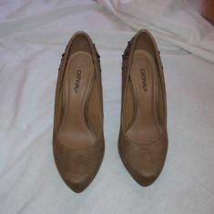 Pantofi gala bej 37 - Pantofi dama, Marime: 36