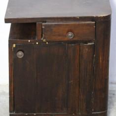 Noptiera din lemn masiv; Dulap cu usa si sertar; Comoda mica; Dulapior