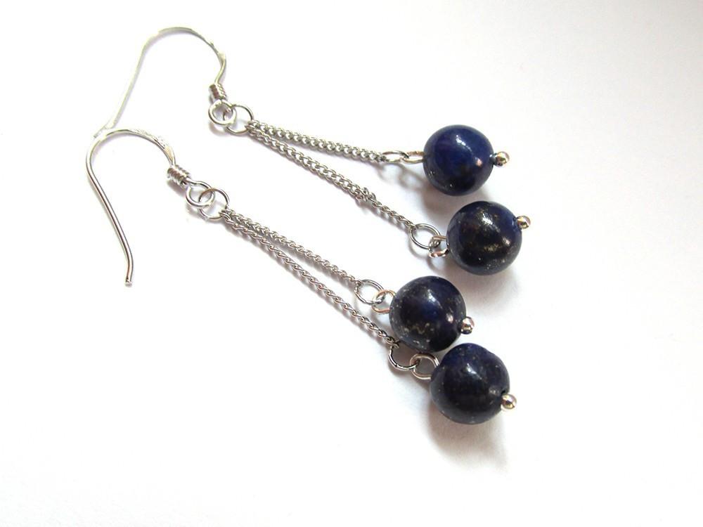 Cercei lapis lazuli cumpara cu incredere de pe okazii ro