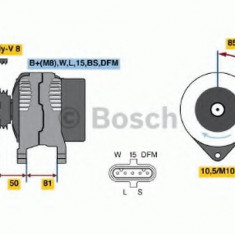 Generator / Alternator DAF LF 45 FA 45.130 - BOSCH 0 124 555 006 - Alternator auto